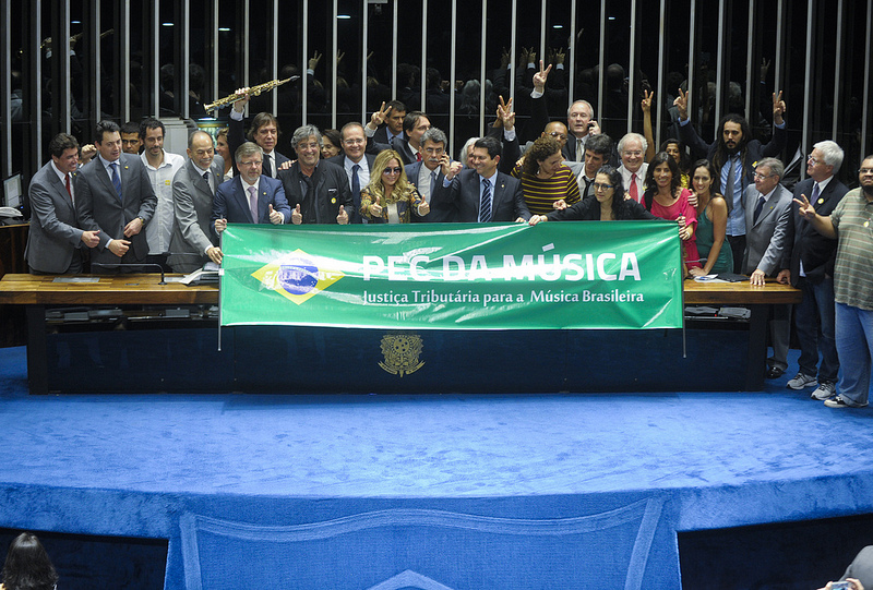 Aprovação da PEC da Música, em 24 de setembro de 2013 - Foto: Moreira Mariz/Agência Senado