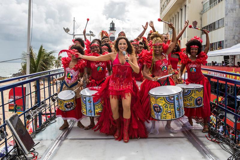 Daniela Mercury no esquenta do carnaval 2015 - Fotos Célia Santos/DM