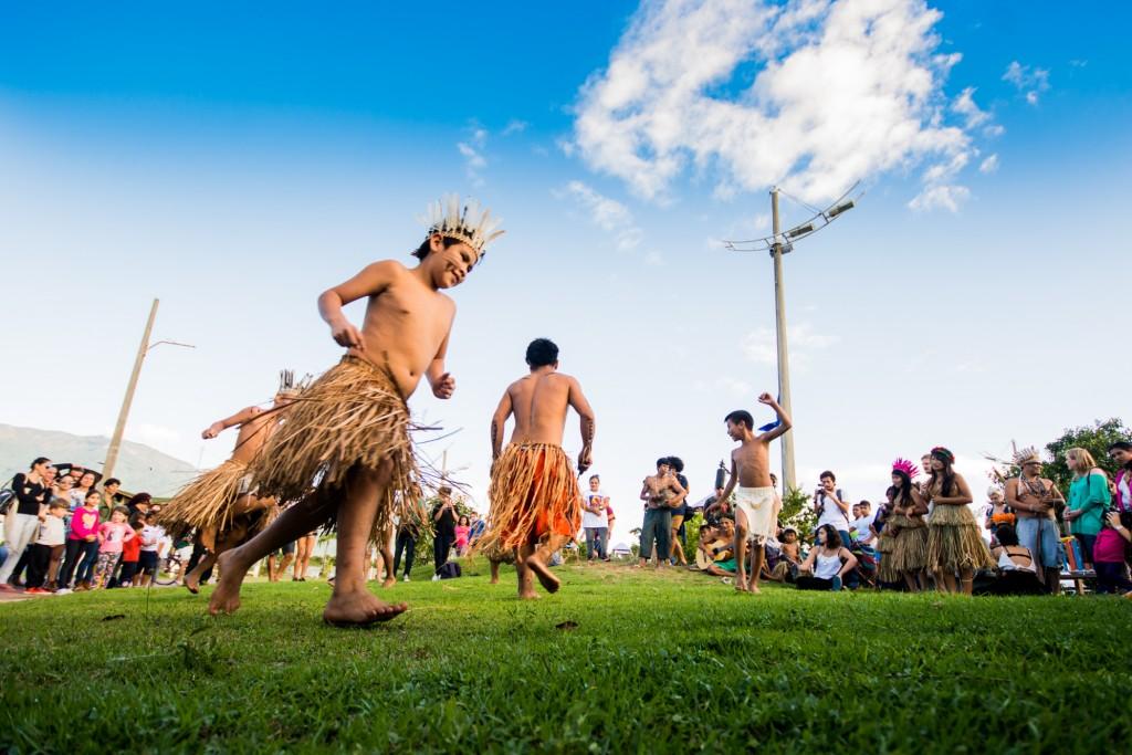 Os guaranis da aldeia do rio Silveiras abrem o Vento Festival 2017 - Foto divulgação