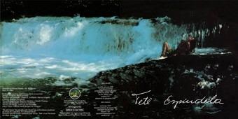"""Contracapa e capa de """"Pássaros na Garganta"""" (1982), com """"Amor e Guavira"""", """"Canção dos Vagalumes"""", """"Olhos de Jacaré"""" """"Cuiabá"""", """"Ibiporã"""", """"Paisagem Fluvial"""" e a segunda versão de """"Cunhataiporã"""" (1980)"""